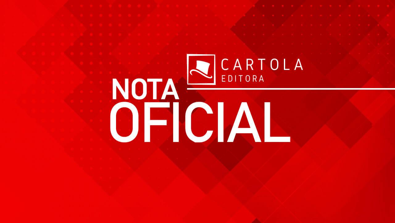 A Cartola Editora informa a suspensão temporária de todos os seus eventos